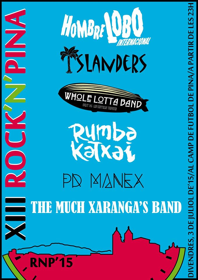 cartell Rock'n Pina 15