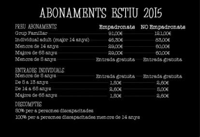 tarifes 2015 muncipal